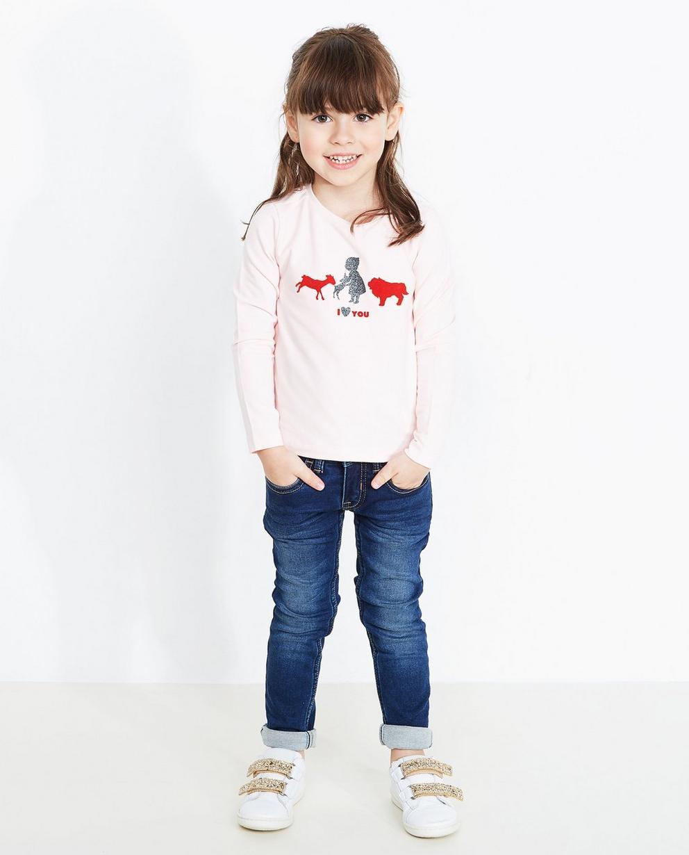 T-shirt à manches longues - rose pâle, imprimé, Heidi - Heidi